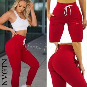 NVGTN Ruby Red Jogger Pants Small NWT